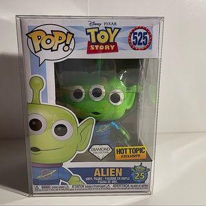 Disney Toy Story Diamond Alien Funko Pop! # 525 Hot Topic Exclusive NIB